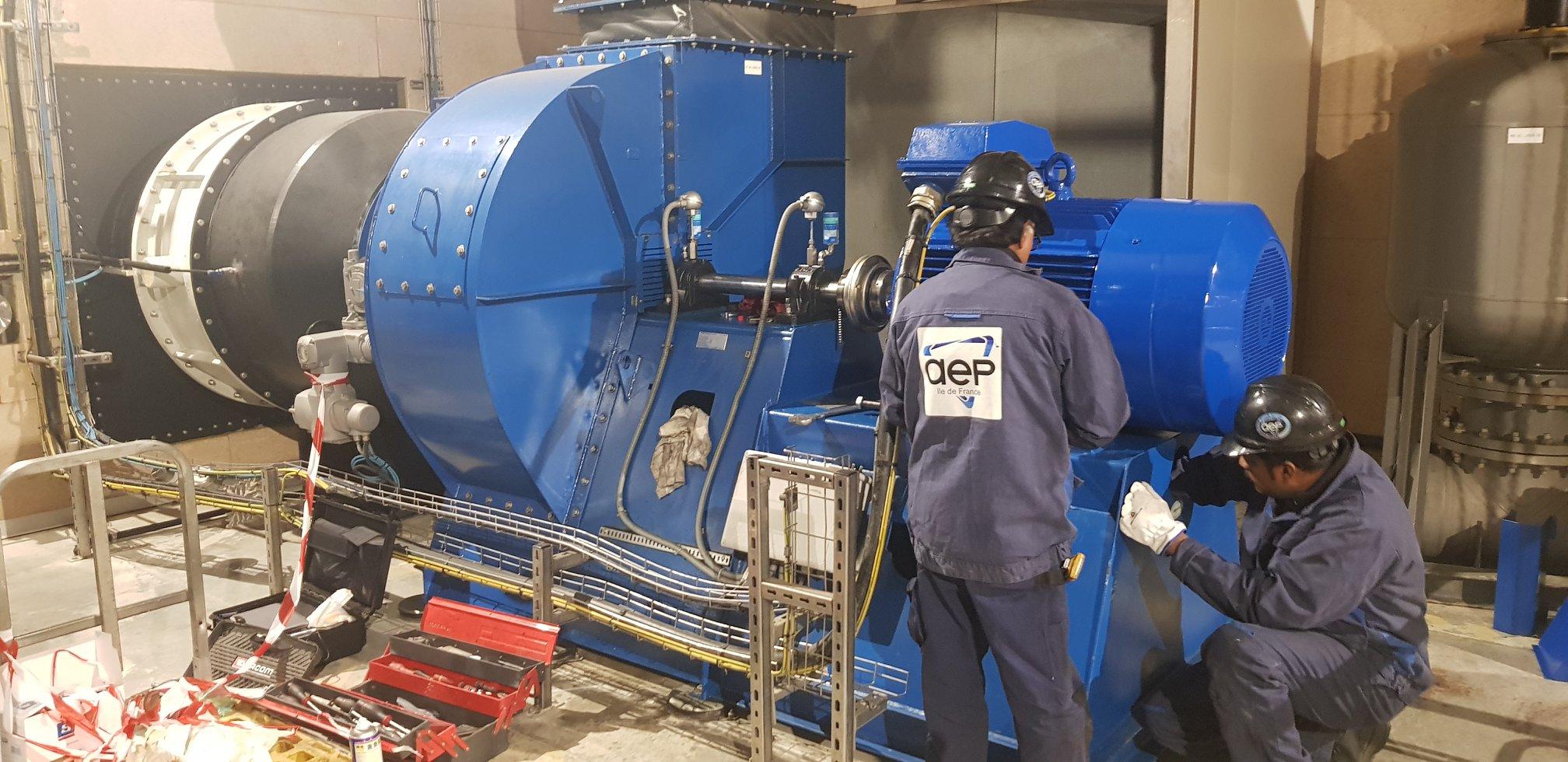 Révision d'un moteur ABB sur un ventilateur