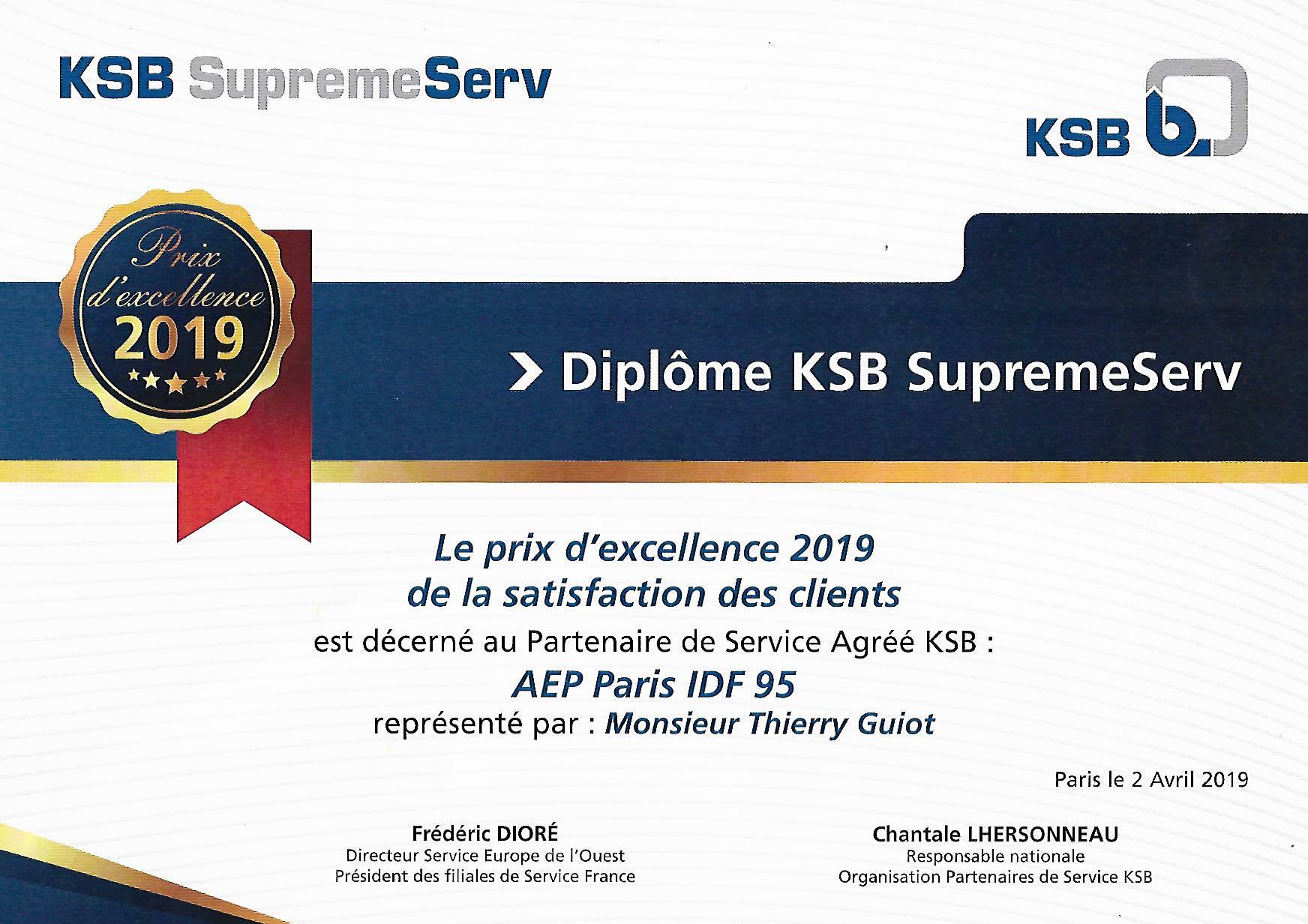 AEP PARIS ILE DE FRANCE ET KSB